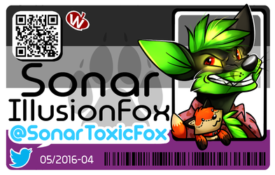 Sonar Furry ID Card - By WinterSnowolf