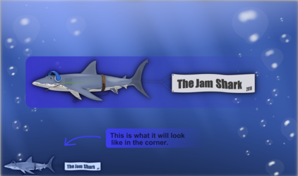 The Jam Shark - New watermark logo