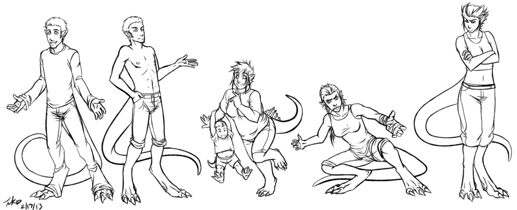 Commission - Six Humanized Creatures for Shadow