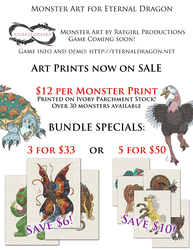 Eternal Dragon Monster Art Sale