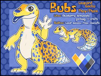 Ref Sheet - Bubs Gecko