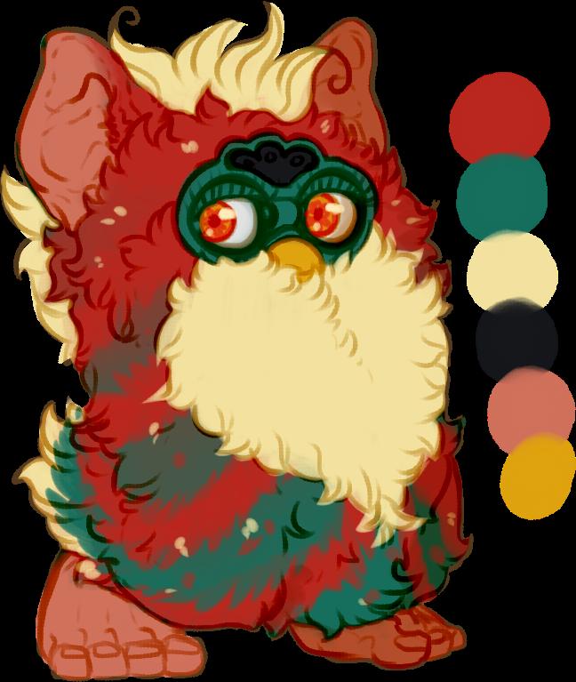 [A] Antique Christmas Furby - OPEN