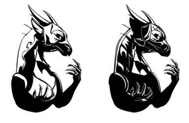 Black-and-White Vayler Icon experimental(May 2017)