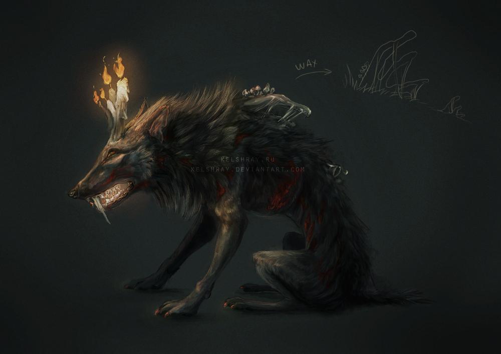 Halloween wolf monster
