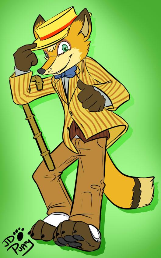 My what a dapper looking fox!