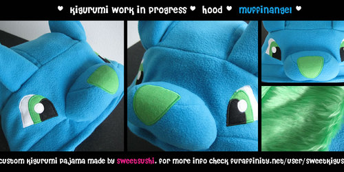 MuffinAngel hood - Kigurumi Pajama wip
