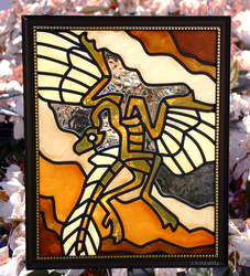 Archaeopteryx Faux Stained Glass (Outdoor)