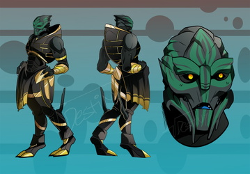 Turian Gold/Black Chart (COMMISSION)