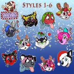 Ratgirl's XMAS Sticker Pack 2017 - First Half