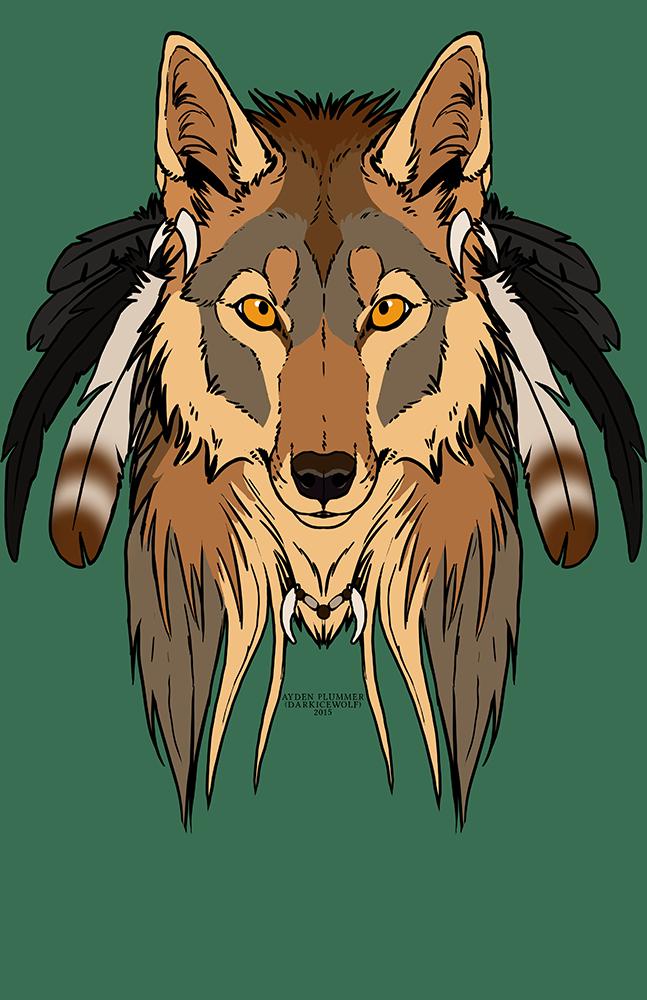Tribal Coyote - Shirt design.