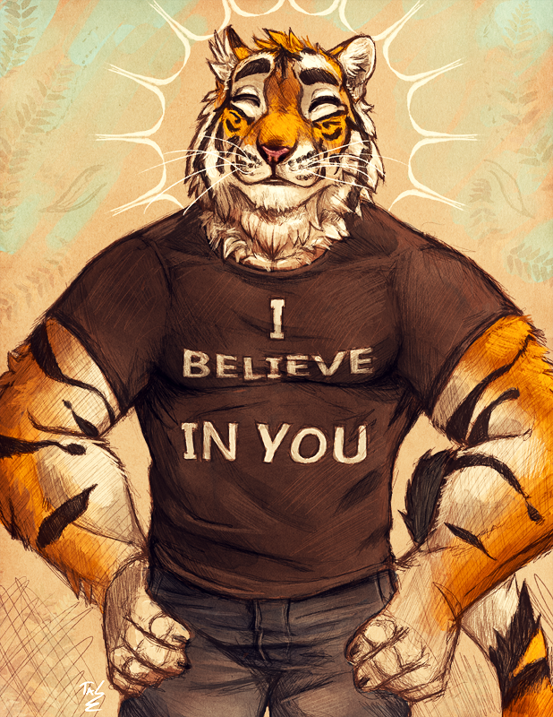 Motivational Tiger Sketch