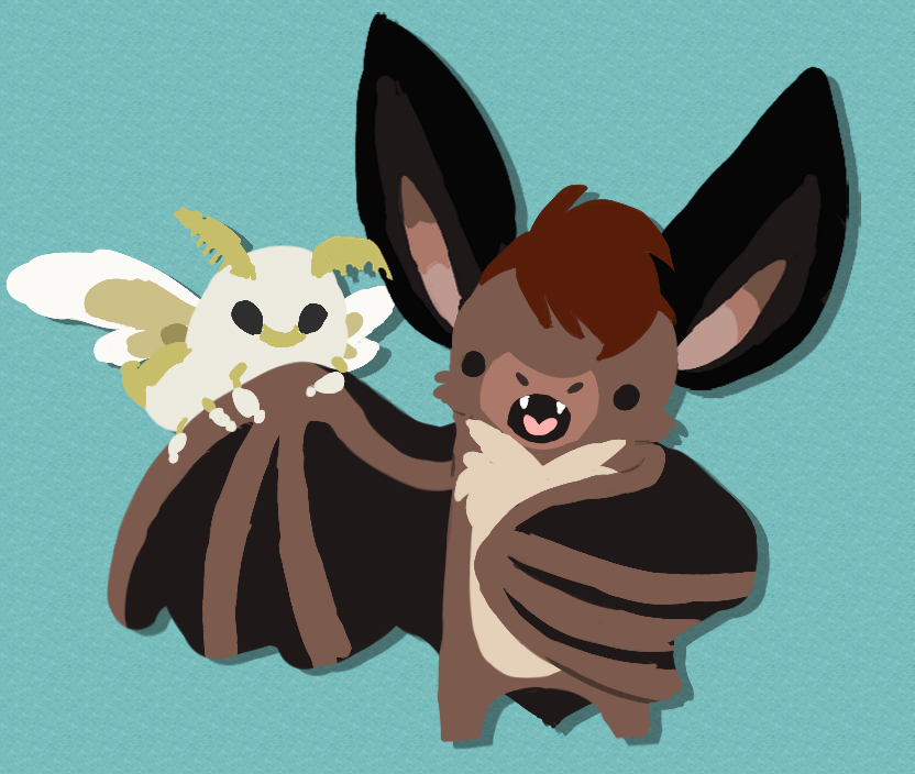 Featured image: A bat day for a little moth ~ by CartoonLover