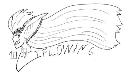 Inktober day 10: Flowing
