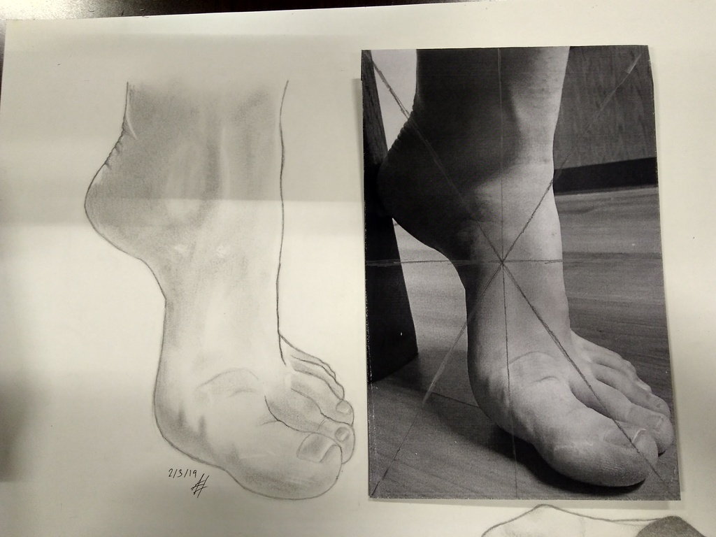 Figure Drawing Assignment- Foot
