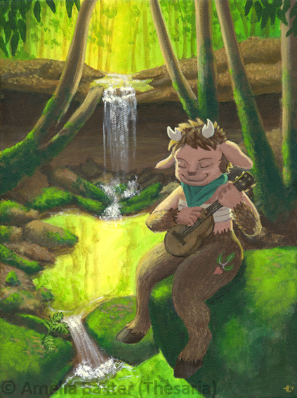 Faun in the Forest