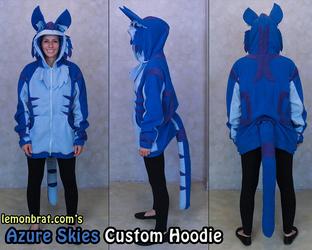 Azure Skies Custom Hoodie