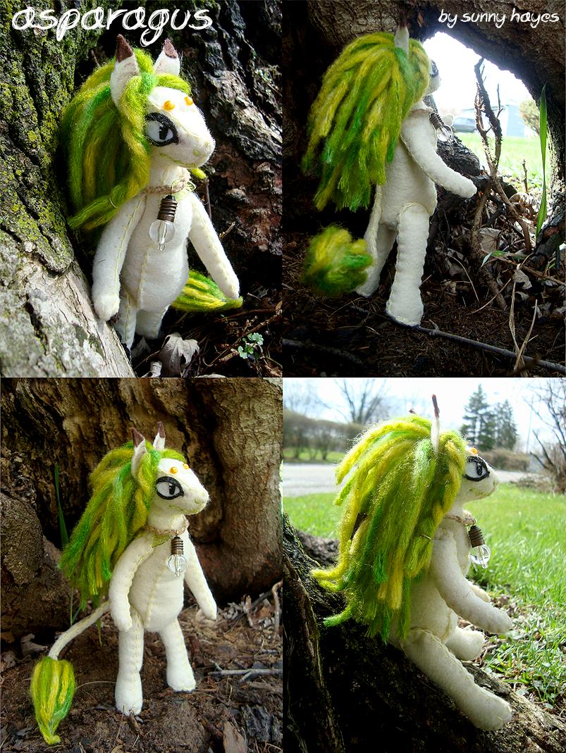 Asparagus - Felt Doll