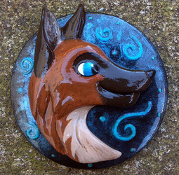 Copper Wolf Badge Pin