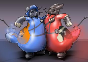 Perma-Pyro'd Red VS Blue