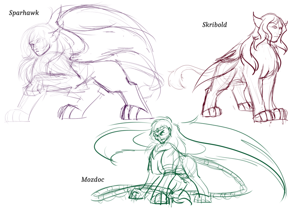 March Sketch Stream: Sphinxes