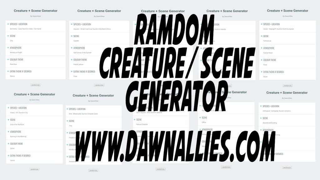 Most recent image: Random Creature Generator