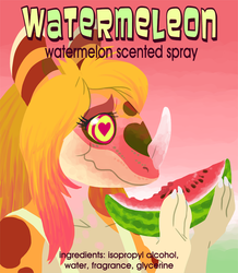 Watermeleon Fursuit Spray Label Design