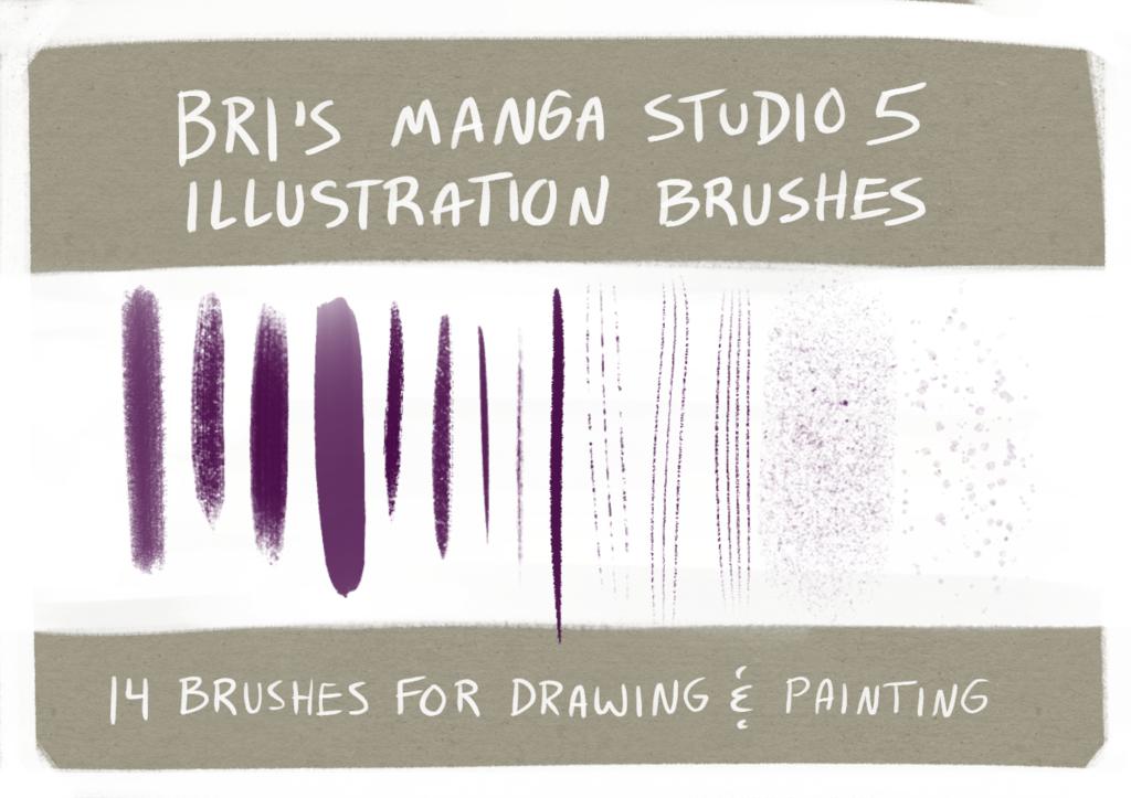 Illustration Brush Set - Manga Studio 5 / Clip Studio Paint