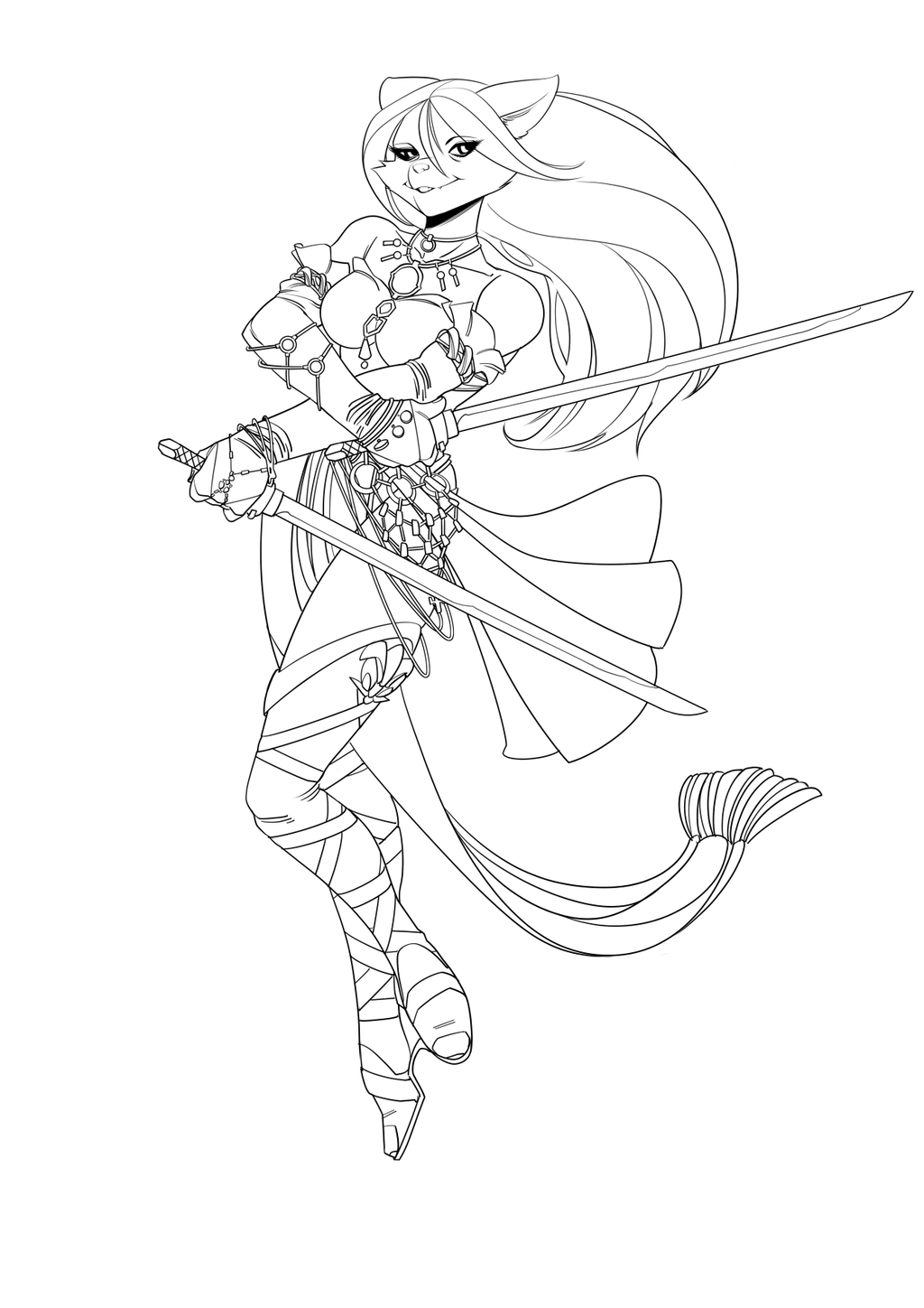 commission wip lineart