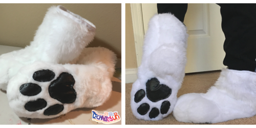White Wolf Fursuit Sockpaws