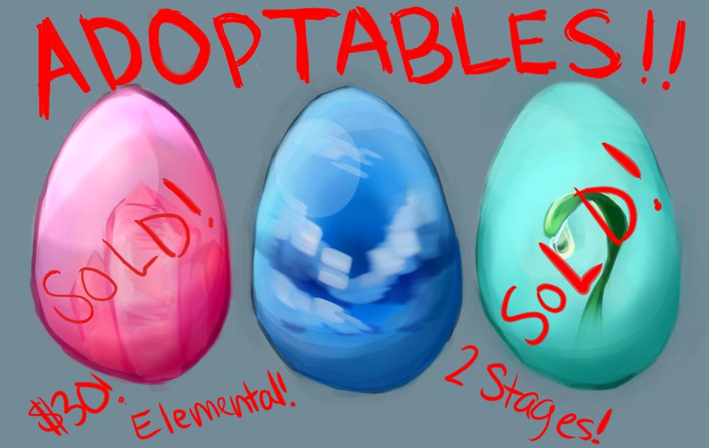 Elemental Adoptables Round 2! $30~ Customizable!