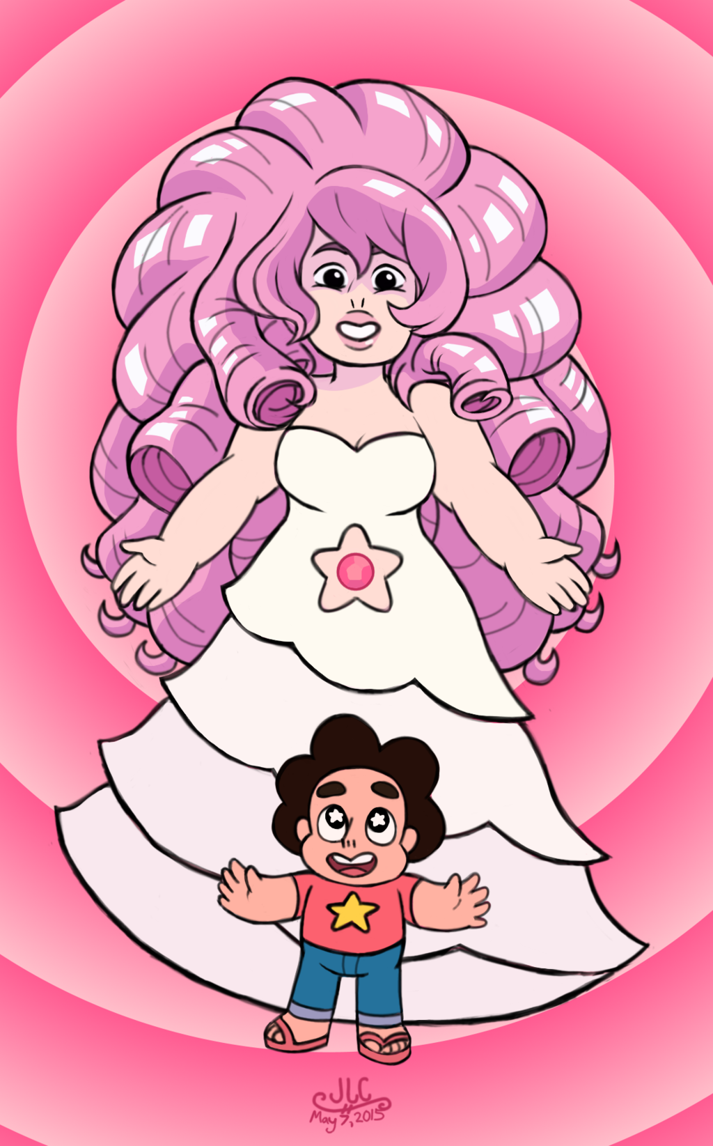SU - Steven Universe + Rose Quartz