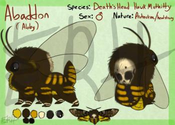 Death's Head Hawk Mothitty [com]