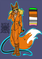 Foxgirl +Flatcolored Commission+