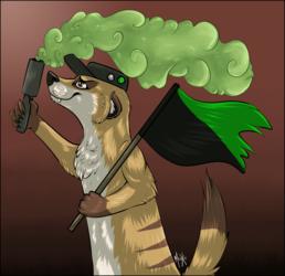 .: Ecoterrorist Veganarchist meerkat.