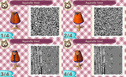 Animal Crossing New Leaf Aquirrelle Vest QR Code