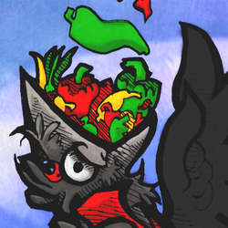 Kigs loves PEPPERS - Colored
