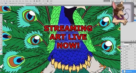 ART STREAM Shading Start for Video Game Monster: Peacock