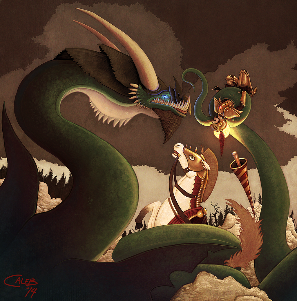 Comm: Saint George And The Full Grown Dragon