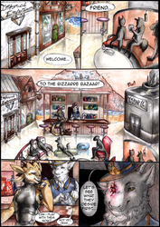 Comic commission - Bizzarre bazaar