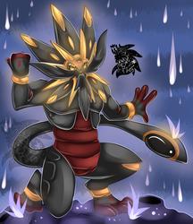 Male Evil Solgaleo +Full Shaded Commission+