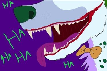 Arkham Joker hyena closeup