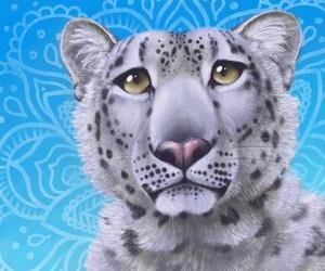 Snow Leopard Mandala