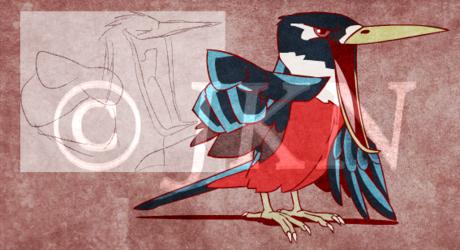 Redraw: Rufous-bellied kookaburra