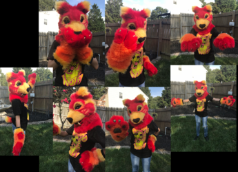 Fire Sabercat Partial Suit