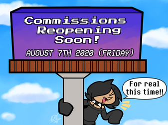 Commissions Reopening Soon!
