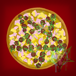 Pentacle Pizza's Special: Hellish Hawaiian