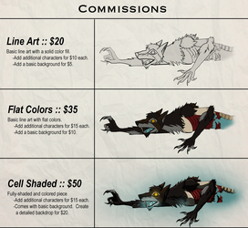 Commissions Prices