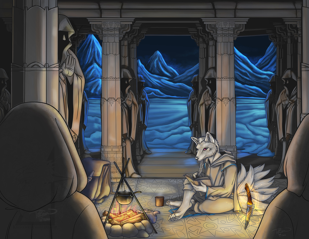 Commission - Temple - shelter from the cold