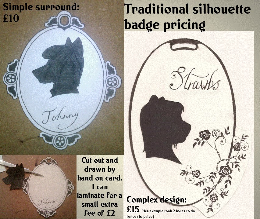 silhouette badge commisions