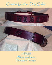 Leather Dog Collar - Hila